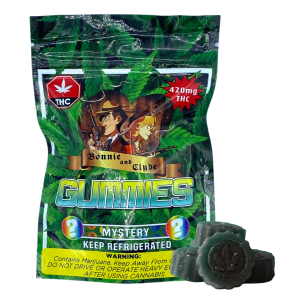 Bonnie and Clyde THC infused gummies Mystery 420mg